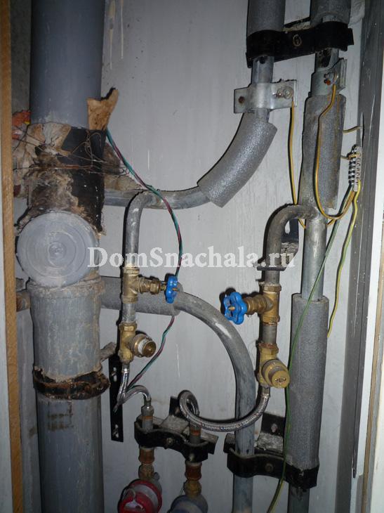 Подключение счетчиков расхода воды гибкой подводкой